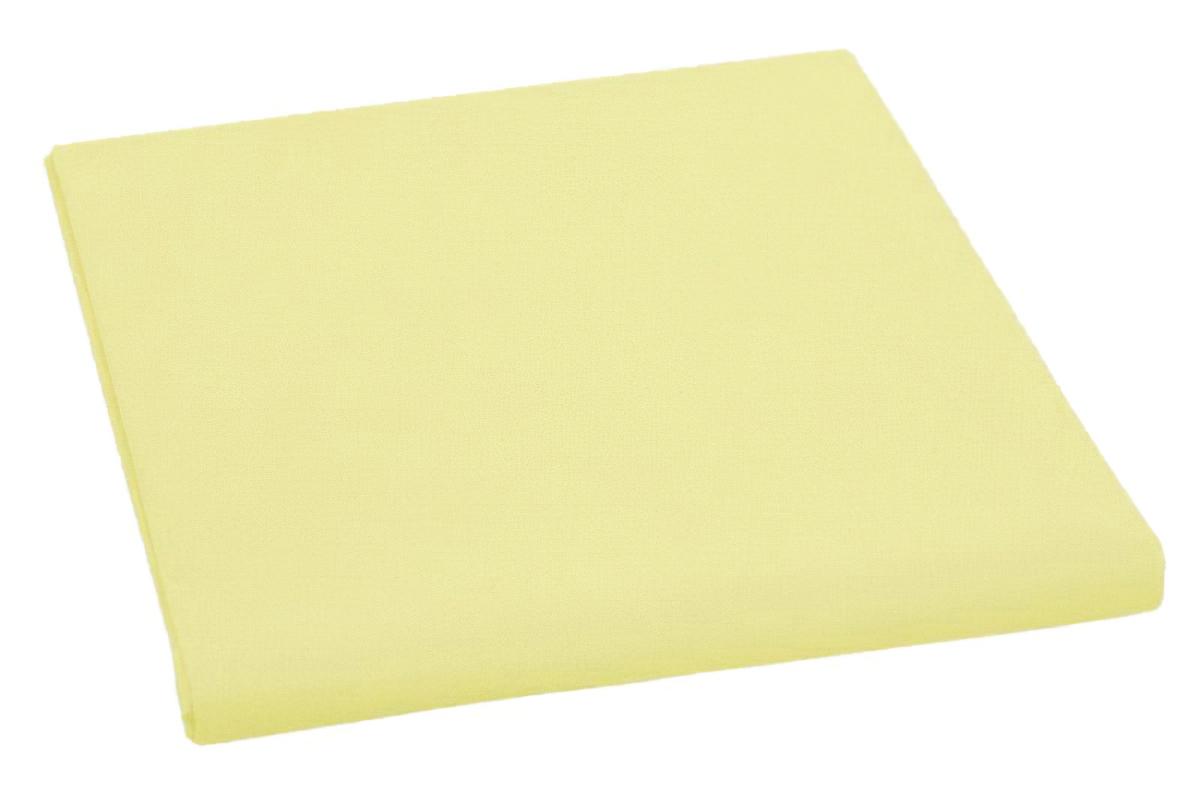 Bavlněné plátěné prostěradlo, plachta 140x240cm, středně žluté