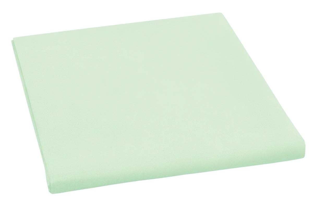 Bavlněné plátěné prostěradlo, plachta 240x240cm, světle zelené
