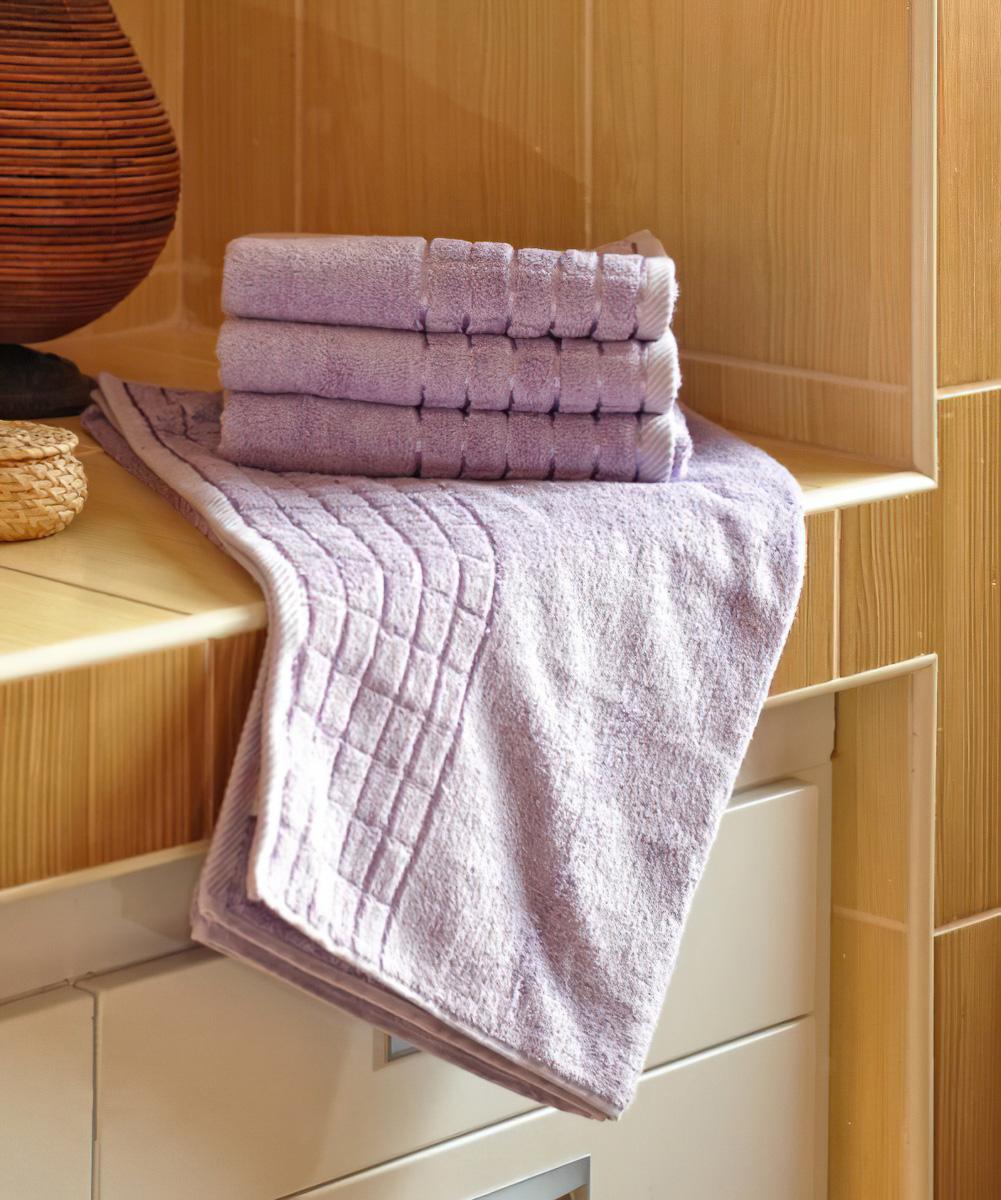 Bambusový froté ručník a osuška BAMBUS TOP, fialová (více rozměrů)
