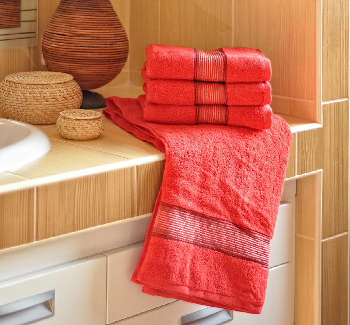 Mikrofroté ručník a osuška DITA, červená (více rozměrů)