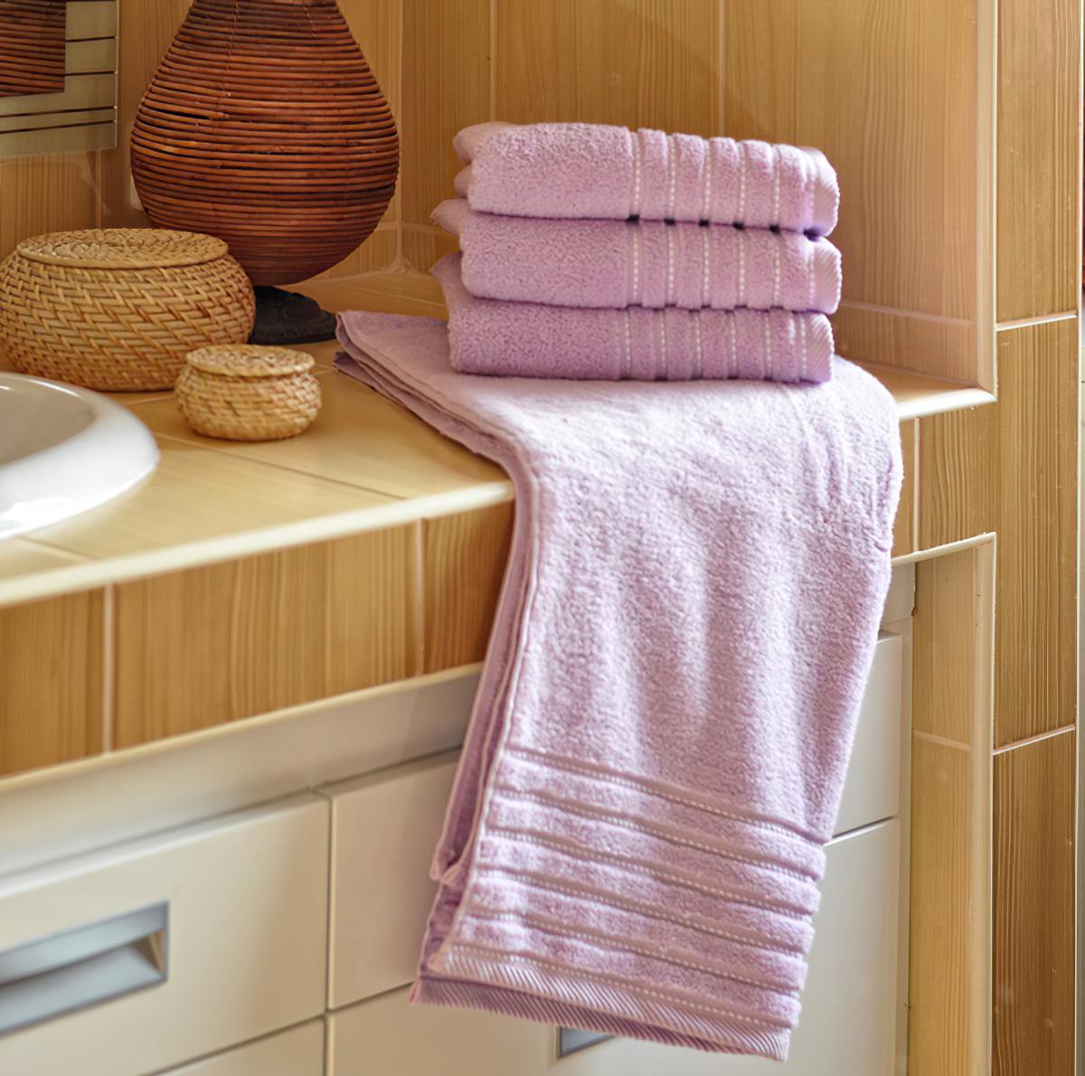 Mikrofroté ručník a osuška EMA, fialová (více rozměrů)