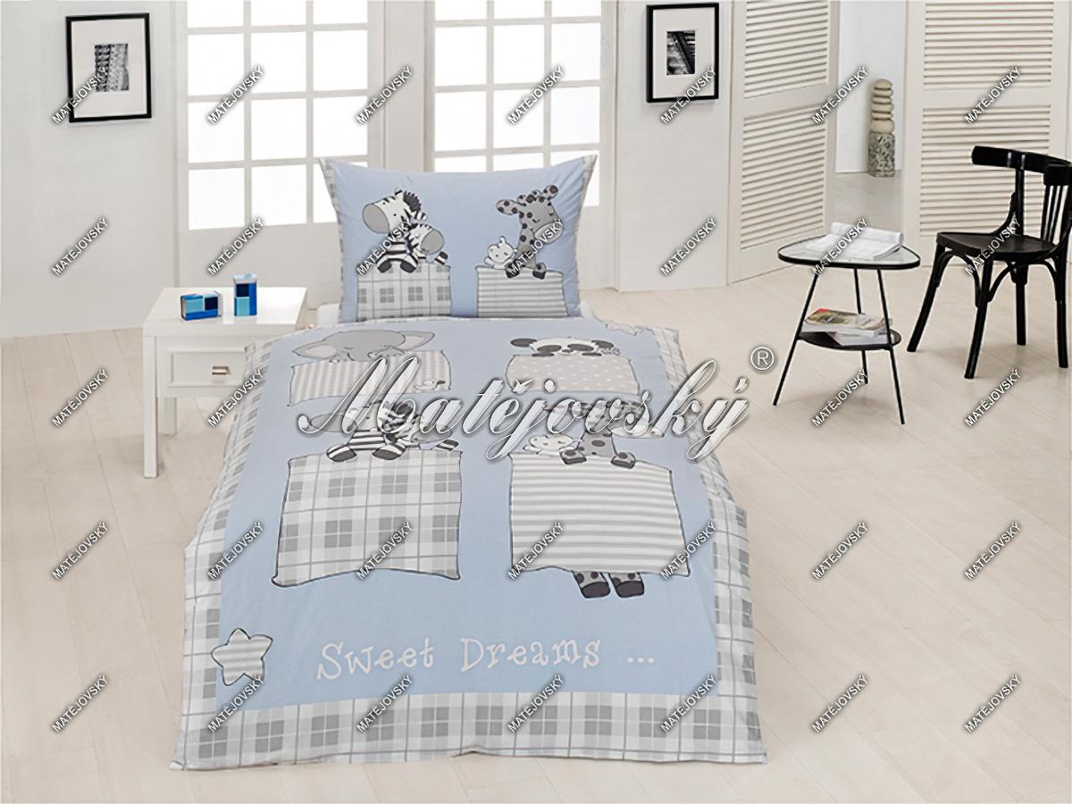 Dětské povlečení SLEEPING ZOO bavlna hladká (více rozměrů)