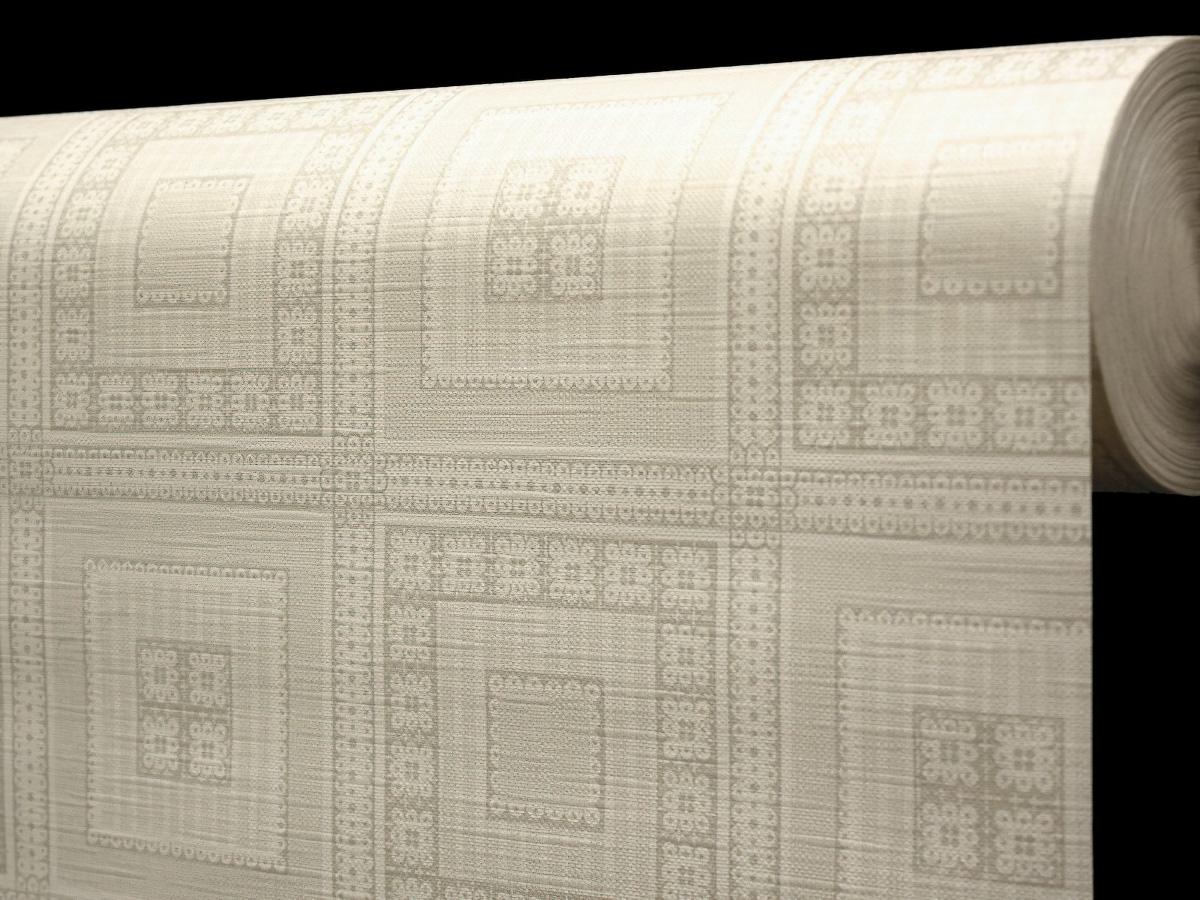 Ubrus PVC s textilním podkladem 5700710, béžové čtverce, š.140cm (metráž)